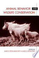 Animal Behavior and Wildlife Conservation Book