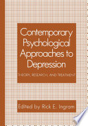 Contemporary Psychological Approaches To Depression
