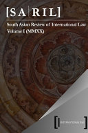 South Asian Review Of International Law