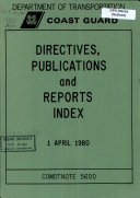 Directives  Publications and Reports Index