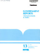 Government Reports Announcements   Index
