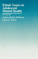Ethnic Issues in Adolescent Mental Health Book