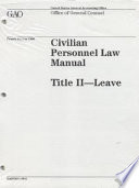 Civilian Personnel Law Manual: Title 2, Leave, 1996