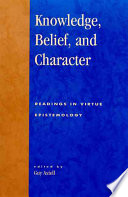 Knowledge Belief And Character