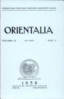 Pdf Orientalia: Vol. 27, No. 4 Telecharger