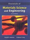 Essentials of Materials Science   Engineering