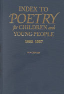 Index to Poetry for Children and Young People  1993 1997