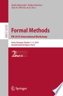 Formal Methods. FM 2019 International Workshops