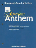 American Anthem  Grades 9 12 Document based Activities for American History Book