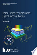 Color Tuning for Perovskite Light Emitting Diodes