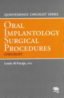 Oral Implantology Surgical Procedures Checklist
