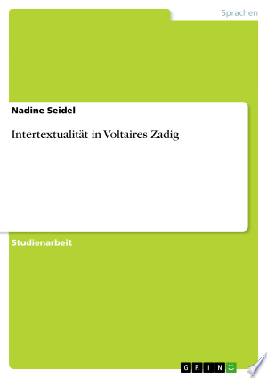 Download Intertextualität in Voltaires Zadig Free Books - EBOOK