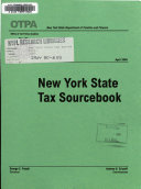 New York State Tax Source Book