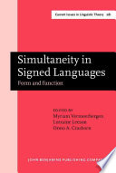 Simultaneity in Signed Languages