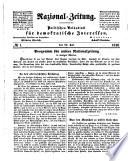 Nazional-Zeitung ; Politisches Volksblatt für demokratische Interessen ; Red.: Wilhelm Ehrlich. Mitred.: Adolf Chaises