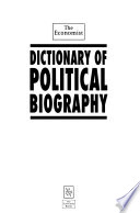The Economist Dictionary of Political Biography