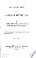 Historical View of the American Revolution Book PDF