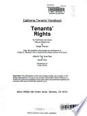 California tenants' handbook