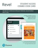 Revel For Introduction To Behavioral Research Methods Access Card PDF