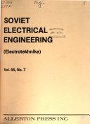 Soviet Electrical Engineering