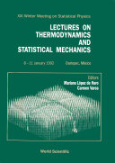 Thermodynamics And Statistical Mechanics, Lectures On - Proceedings Of The Xxi Winter Meeting In Statistical Physics