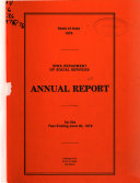 Annual Report for the Year Ending June 30