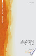 Civil Wrongs and Justice in Private Law Book PDF