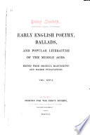 Early English Poetry, Ballads, and Popular Literature of the Middle Ages Pdf/ePub eBook