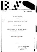 Publications of the Indiana Geological Survey  State of Indiana  Department of Public Works  Conservation Department  Division of Geology