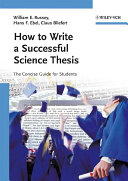 How to Write a Successful Science Thesis