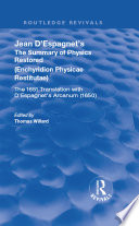 Jean D Espagnet S The Summary Of Physics Restored Book PDF