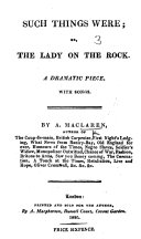 The Isle of Mull  or  the Lady on the Rock  a dramatic piece in two acts with songs