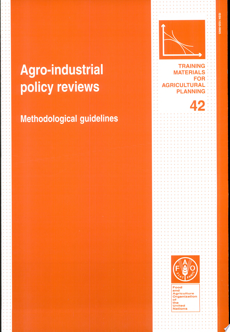 Agro-industrial Policy Reviews banner backdrop