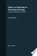 Failure of Materials in Mechanical Design