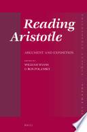 Reading Aristotle