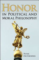 Honor in Political and Moral Philosophy Pdf/ePub eBook