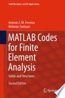 MATLAB Codes for Finite Element Analysis