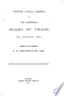Annual Report Of The Montreal Board Of Trade