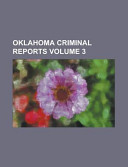 Oklahoma Criminal Reports