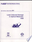 Laser Induced Damage In Optical Materials 1989 Book PDF