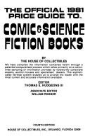 The Official 1981 Price Guide to Comic   Science Fiction Books