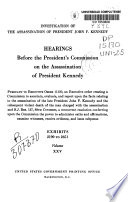 Hearings Before the President s Commission on the Assassination of President Kennedy Book PDF