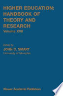 Higher Education Handbook Of Theory And Research