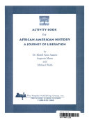 Activity Book For African American History A Journey Of Liberation Book PDF