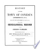 History of the Town of Conesus  Livingston Co   N  Y