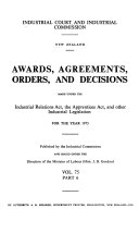 Awards  Agreements  Orders  and Decisions Book