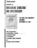 Symposium on Molecular Structure and Spectroscopy