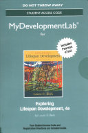 Exploring Lifespan Development MyDevelopmentLab With Pearson Etext Access Code