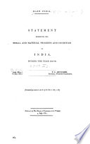 Statement Exhibiting the Moral and Material Progress and Condition of India During the Year