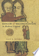 Rancor Reconciliation In Medieval England Book